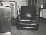 Inside 05. Red Leather Chair in Den by Cleveland / Bay Village Police Department