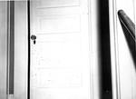 Room 06. Blood Spatter on Murder Room Door by Cleveland / Bay Village Police Department