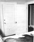 Room 11. Blood Spatter on Murder Room Door, Wardrobe Door