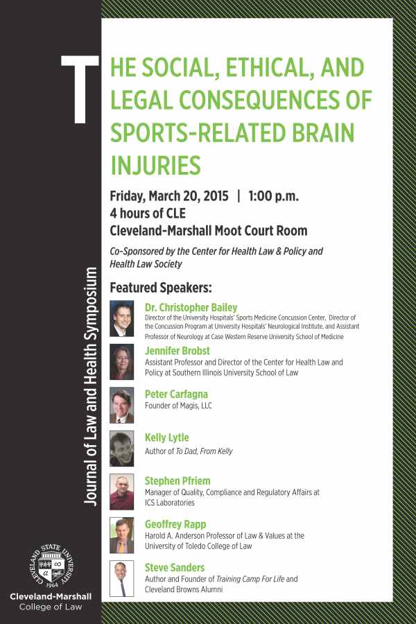 The Social, Ethical, and Legal Consequences of Sports-Related Brain Injuries - Spring 2015
