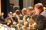 Jazz Heritage Orchestra Saxophones in Concert by Michael R. Williams