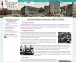 A Brief History of Cleveland State University