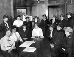 Early meeting of the Cuyahoga County Women's Suffrage Association by unknown