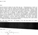 Defendant's Exhibit 153:  Letter from Cynthia to Sam Reese Sheppard March 9, 1992