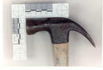 Weapon 26. Closeup of hammer head by Cuyahoga County Prosecutor's Office and Cuyahoga County Coroner's Office