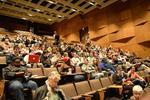 Audience assembling in Main Classroom Auditorium