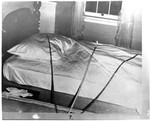 Kirk Photo 07: Victim's Bedding Arranged to Match Crime Scene Photo by Paul Leeland Kirk