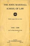 1945-1946 The John Marshall School of Law