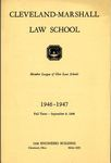 1946-1947 Cleveland-Marshall Law School by Cleveland-Marshall Law School