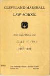 1947-1948 Cleveland-Marshall Law School