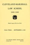 1948-1949 Cleveland-Marshall Law School