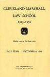 1949-1950 Cleveland-Marshall Law School