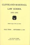 1950-1951 Cleveland-Marshall Law School