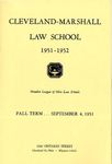 1951-1952 Cleveland-Marshall Law School