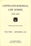 1952-1953 Cleveland-Marshall Law School