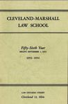 1953-1954 Cleveland-Marshall Law School by Cleveland-Marshall Law School