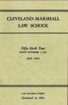 1953-1954 Cleveland-Marshall Law School