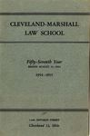 1954-1955 Cleveland-Marshall Law School by Cleveland-Marshall Law School