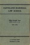 1954-1955 Cleveland-Marshall Law School