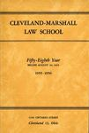 1955-1956 Cleveland-Marshall Law School