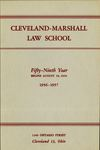 1956-1957 Cleveland-Marshall Law School