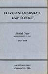 1957-1958 Cleveland-Marshall Law School by Cleveland-Marshall Law School