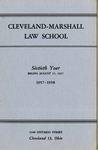 1957-1958 Cleveland-Marshall Law School