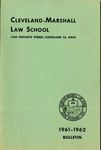 1961-1962 Cleveland-Marshall Law School