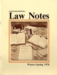 1978 Vol.5 No.2 by Cleveland-Marshall College of Law