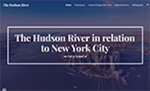 The Hudson River in Relation to New York City by Nathan Shaffer