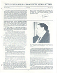 The Darius Milhaud Society Newsletter, Vol. 3, Fall 1987
