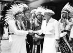 Chief Thunderwater of Cleveland with United States Congresswoman, Frances Payne Bolton by Fred Bottomer