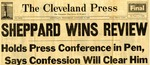 56/01/11 Sheppard Wins Review by Cleveland Press