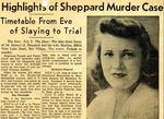 54/12/22 Highlights of the Sheppard Murder Case by Cleveland Plain Dealer