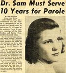 54/12/22 Dr. Sam Must Serve 10 Years for Parole