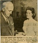 54/07/14 Study Relationship of Doctor, L.A. Girl by Cleveland Press