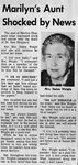 70/04/06 Marilyn's Aunt Shocked by News by Cleveland Press