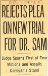 55/01/04 Rejects Plea on New Trial for Dr. Sam