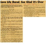 54/07/28 Love Life Bared, Sue Glad It's Over