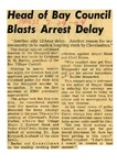54/07/29 Head of Bay Council Blasts Arrest Delay