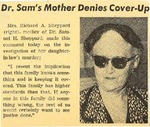 54/07/30 Dr. Sam's Mother Denies Cover-Up