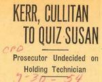 54/07/30 Kerr, Cullitan to Quiz Susan by Cleveland Plain Dealer