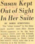 54/07/30 Susan Kept Out of Sight In Her Suite by Cleveland News