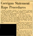 54/07/31 Corrigan Statement Raps Procedures