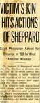 54/08/09 Victim's Kin Hits Actions Of Sheppard by Cleveland Plain Dealer