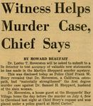 54/08/12 Witness Helps Murder Case, Chief Says by Cleveland News