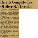 54/08/13 Here Is Complete Text Of Merrick's Decision by Cleveland News