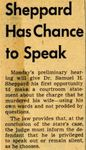 54/08/13 Sheppard Has Chance to Speak by Cleveland Press