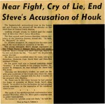 54/08/14 Near Fight, Cry of Lie, End Steve's Accusation of Houk by Cleveland Press