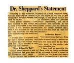 54/07/08 Dr. Sheppard's Statement by Cleveland News